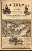 PUB 1891 - Machines à Briques J. Joly à Blois 41; Machines-outils V. Liné Et Mongin-Monneret à Albert 80 Somme - Werbung