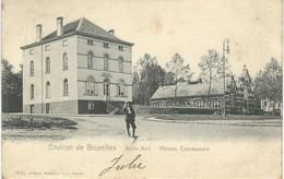 Environs De Bruxelles - BOITS FORT - BOITSFORT : Maison Communale - RARE VARIANTE - Cachet De La Poste 1905 - Watermael-Boitsfort - Watermaal-Bosvoorde