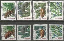 USA 2010 EVERGREEN TREES Cpl 4v VFU With Circular PMK + 4 ATM Booklet  Sc. 4478/85 Unif. 4784/91 - Used Stamps
