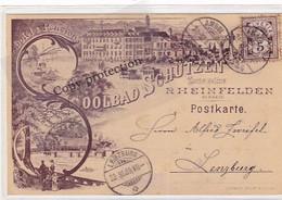 """Rheinfelden - Soolbad """"Schützen"""" - Vorläuferlitho - 1889 !! - Top      (10525) - AG Argovie"""