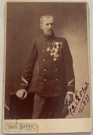 Cabinet. Officier De Marine Par Paul Boyer. Ancre Sur Le Col. Médailles (Ordre Du Dragon D'Annam). Dédicace. Militaire. - Oorlog, Militair