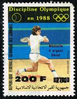Comores Comoros - Local Overprint - Surcharge Locale 1996 - Tennis Olympics Seoul Tim Mayotte - Mi 1147 Sc 815K RRRR - Tennis
