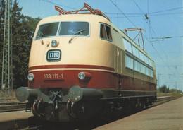 CARTE POSTALE - POSTCARD - POST CARD - POSTKARTE- BRIEFKAART - SIEMENS ELECTRIC LOCOMOTIVE E 03 -1965 - Treinen