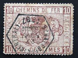 CHEMINS  DE  FER   TR 1  OBLITERE  ( 1879 / 1882 )  COB  :  9,00 € - Used