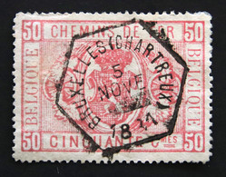 CHEMINS  DE  FER   TR 4  OBLITERE  ( 1879 / 1882 )  COB  :  12,50 € - Used