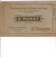 CATALOGUE  G MURAT MANUFACTURE D ARMES DE LUXE ST ETIENNE DE 1926 1927 - Frankrijk