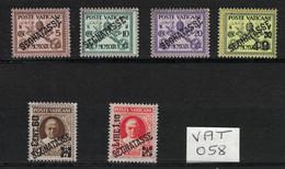 Vatican - Vatican City - Vaticano - Yvert Taxe 1-6 Neufs SANS Charnière - Scott#J1-J6 MNH - Unused Stamps