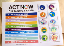 """ITALIA 2021, SHEET """"ACT NOW"""" ENVIRONEMENT PROTECTION, MNH** - 2011-20: Ungebraucht"""