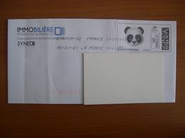Montimbrenligne Sur Enveloppe 90x180 Panda - Personnalisés