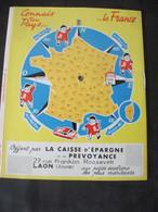 Protège-Cahier à Système Rotatif Caisse D'Epargne Et De Prévoyance De Laon Ecureuil Moto Département Carte De France - Omslagen Van Boeken