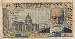 Billet De 500 Francs Victor Hugo A.6-2-1958 - 500 F 1954-1958 ''Victor Hugo''