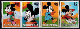 MWD-BK6-482 MINT PF/MNH ¤ SHQIPERIA 2003 4w In Serie ¤ THE WORLD OF WALT DISNEY -- FRIENDS OF WALT DISNEY - Disney