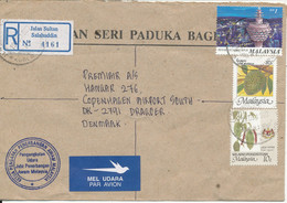 Malaysia Registered Cover Sent To Denmark 19-5-1999 - Malaysia (1964-...)