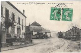 Ternuay : Arrivée Du Tramway Route De Servance - Autres Communes