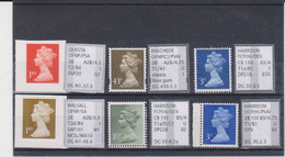 #80 GB Specialised Selection Of Machin Stamps - Machins