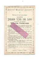 D 772. JULES VAN DE LOO  Echtg. V. Verbinnen - °GHELUVELT 1845 / +HASSELT 1905 - Devotion Images