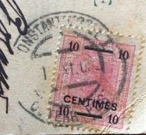SALUTI DA COSTANTINOPLE - INTERNO MOSCHEA ST.SOPHIE -  CONSTANTINOPEL  OSTERR.POST  Su 20 Centimes 1/11/03 - PER GENOVA - Mundo