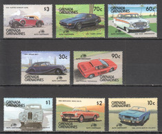 H1904 1986 GRENADA GRENADINES TRANSPORT CARS HISTORY CENTENARY MICHEL #817-24 11 EURO 1SET MNH - Voitures
