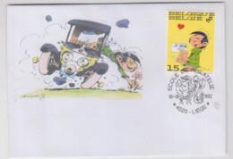 GASTON   Enveloppe  Liège  1992 - Non Classificati