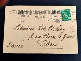 Finlande Carte Lettre Pour La France 05/08/1931 - Briefe U. Dokumente