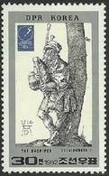 North Korea, 1982, Mi 2230, International Stamp Fair-Essen, Germany, Dürer: Bagpipe Player, 1v, MNH - Musica