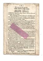 P 810. Z. E.H.JOSEPH CILLIS -°QUAED-MECHELEN 1805 /MUNSTER/SITTARD/COURSEL/COUTHUIN/VIERSET/+OOSTHAM1872 - Devotion Images