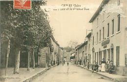 Cpa -     Génas -  La Place Et La Grande Rue      , Animée                     D998 - Otros Municipios