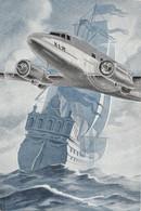 "12492 "" THE FLYING DUTCHMAN-K.L.M.-ROYAL DUTCH AIR LINES "" CARDBOARD-CARTONCINO - Reclamegeschenk"