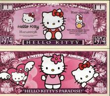 USA 'Hello Kitty' 1 Million US Dollar Commemorative Novelty Banknote - NEW - UNC & CRISP - Other - America