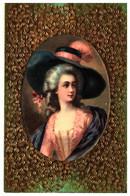 Femme Illustrée 618, Chapeau Relief Doré - 1900-1949