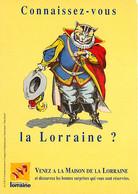 Animaux - Chats - Dessin - Illustration - Carte Publicitaire Tourisme En Lorraine - Chat Botté - CPM - Voir Scans Recto- - Cats