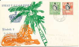 Jamaica FDC 1--5-1956 Cocoanuts And Sugar With Cachet - Jamaique (1962-...)