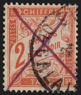 France Timbres-Taxe N°41, 2fr Rouge-orange, Oblitéré Càd + Plume - COTE +75 € - 1859-1955 Usati