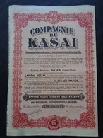 CONGO BELGE - DIMA 1919 - COMPAGNIE DU KASAI - ACTION PRIVILEGIEE DE 250 FRS - Unclassified
