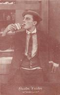 169 - Original - Buster Keaton In Hard Luck - Silent Movie - Cinema Actor - Unused - VG Condition - 2 Scans - Attori