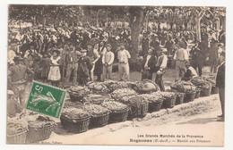 CPA DU MARCHE AUX PRIMEURS A  ROGNONAS 13 EN 1912. TRES GROS PLAN. - Other Municipalities