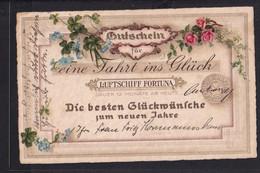 A33x /   Glücksklee Klee  Neujahr / Luftschiff Fortuna / Radevormwald 1932 - Alzey - Año Nuevo