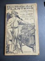 Oud  Boek  HET  HOFJE  DER PLANTERS  Door P . DE  BACKER - Praktisch