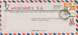 Mexico Air Mail Cover Sent To Switzerland 26-10-1974 With Topic Stamp Volleyball - Mexico