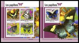 DJIBOUTI 2021 - Butterflies, M/S + S/S. Official Issue [DJB210208] - Butterflies