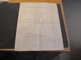 DISTILLERIE-FABRIQUE DE LIQUERS E DANIEL A SAINT-HUBERT - PLAN DATE DU 16/8/1897 - VOIR SCANS - Architecture