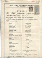 Zeugnis Stefan Ludwig Roth Schule Mediasch Siebenburg 1922 Sachsen - Documentos Históricos