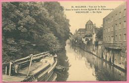 C.P. Mechelen  =   De  Dyle.  Dans  Le Fond à  Droite : Eglise N.D. D' Hanswyck - Mechelen