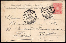 """España - Edi O TP 243 - Postal Mat """"Amb Desc I - 2 - Bilbao - San Sebastián 1/1/07"""" A Francia - Cartas"""