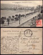 """España - Edi O TP 243 - Postal """"San Sebastián - La Concha"""" Mat """"Amb Desc I  - 1 Norte 23/11/07"""" A Francia - Cartas"""