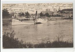 84 Vaucluse Avignon L'arrivée Du Bateau Vapeur Ville De Lyon De Cie Lyonnaise De Navigation De Plaisance Sur Le Rhone - Avignon