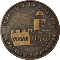 France, 5 Ecu, Euro Des Villes, 1994, Perpignan La Catalane, TTB+, Cuivre - France