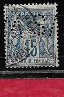 @ Perfin  France  Perfore  SM 155  Indice  5 Décentré - Gezähnt (Perforiert/Gezähnt)