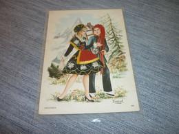 Carte Postale Savoie Savoyards  Carte Brodée  Costume  Tradition Folklore - Borduurwerk