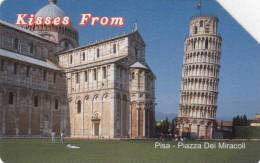 *ITALIA: KISSES FROM PISA* - Scheda Usata - Pubbliche Figurate Ordinarie
